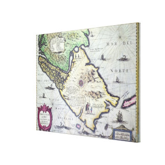 Map of the Magellan Straits, Patagonia Canvas Print