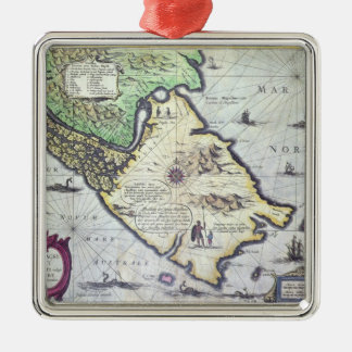 Map of the Magellan Straits, Patagonia Christmas Ornament