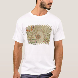 Map of the Magellan Straits, Patagonia, from the M T-Shirt