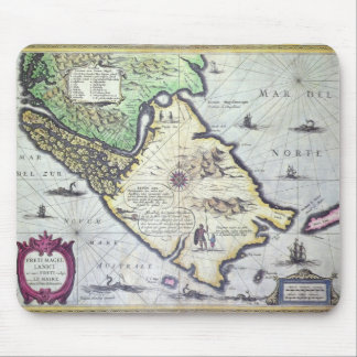 Map of the Magellan Straits, Patagonia Mouse Mat