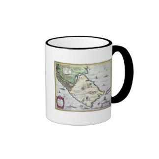 Map of the Magellan Straits, Patagonia Coffee Mugs