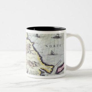 Map of the Magellan Straits, Patagonia Two-Tone Mug