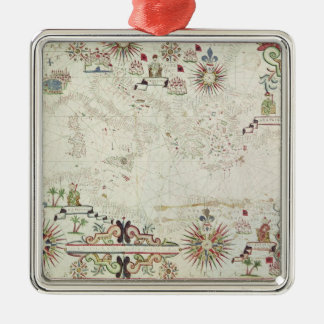 Map of the Mediterranean, 1625 Christmas Ornament
