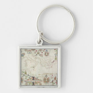 Map of the Mediterranean, 1625 Key Ring