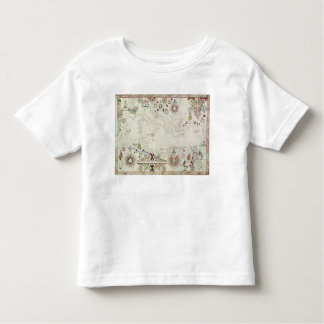 Map of the Mediterranean, 1625 Toddler T-Shirt