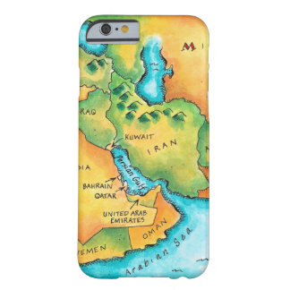 Map of the Middle East Barely There iPhone 6 Case
