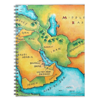 Map of the Middle East Note Books