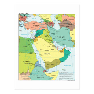 Map of the Middle-East Postcard