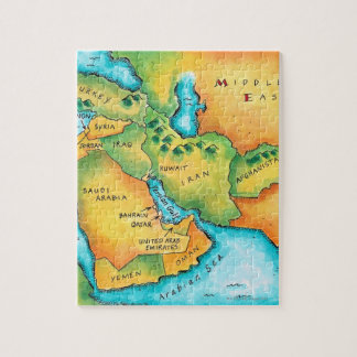 Map of the Middle East Puzzle