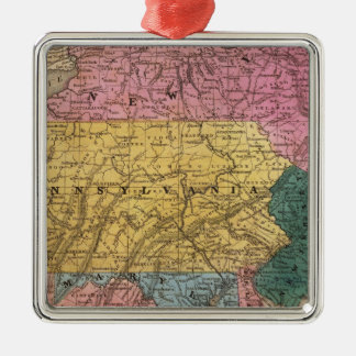 Map of the Middle States Christmas Ornament