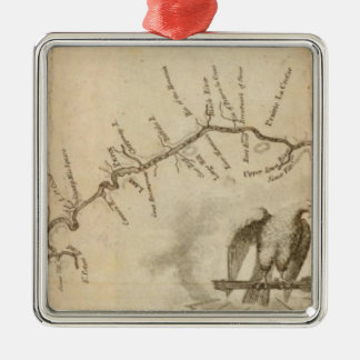 Map of the Mississippi River Christmas Ornament