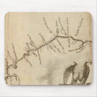 Map of the Mississippi River Mouse Mat