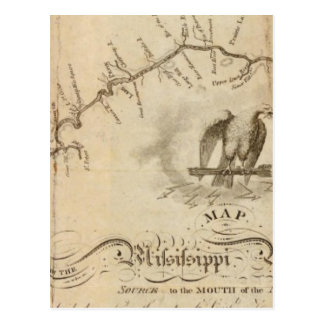 Map of the Mississippi River Postcard