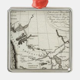 Map of the Missouri Christmas Ornament