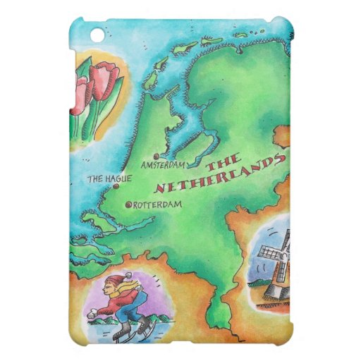 Map of the Netherlands iPad Mini Cover