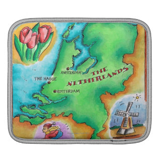 Map of the Netherlands iPad Sleeve