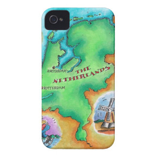 Map of the Netherlands iPhone 4 Case