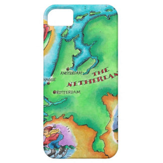 Map of the Netherlands iPhone 5 Cases