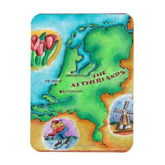 Map of the Netherlands Rectangular Photo Magnet