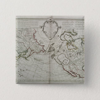 Map of the New Discoveries 15 Cm Square Badge