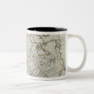 Map of the New Discoveries Two-Tone Coffee Mug