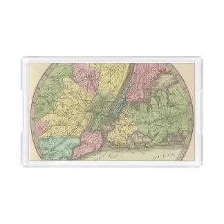 Map of the New York Acrylic Tray