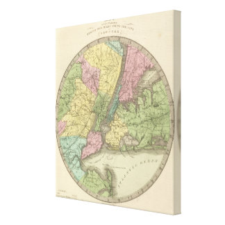 Map of the New York Canvas Print