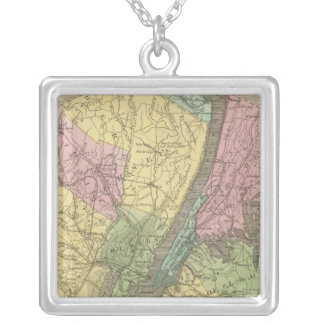 Map of the New York Silver Plated Necklace