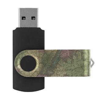 Map of the New York Swivel USB 2.0 Flash Drive