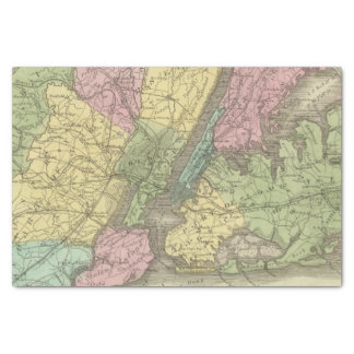 Map of the New York Tissue Paper