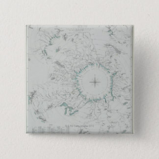 Map of the North Pole 15 Cm Square Badge