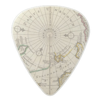 Map of the North Pole and territories near it Acetal Guitar Pick