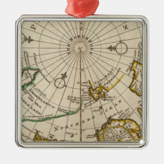 Map of the North Pole and territories near it Christmas Ornament