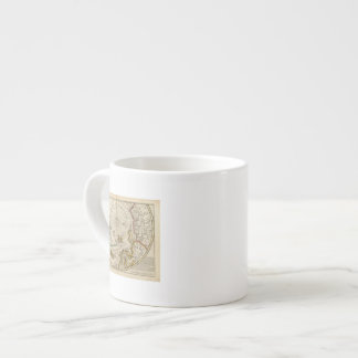 Map of the North Pole and territories near it Espresso Mug