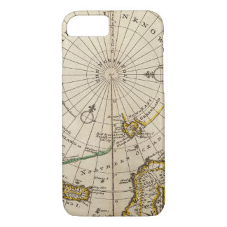 Map of the North Pole and territories near it iPhone 7 Case