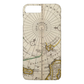 Map of the North Pole and territories near it iPhone 7 Plus Case