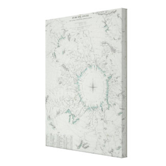 Map of the North Pole Canvas Print