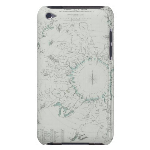 Map of the North Pole iPod Touch Cases
