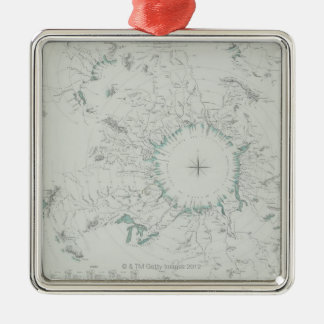 Map of the North Pole Christmas Ornament
