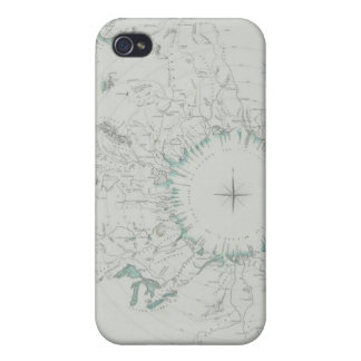 Map of the North Pole iPhone 4 Case