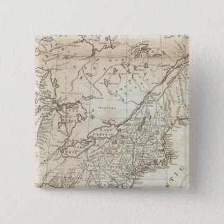 Map of the Northern and Middle States 15 Cm Square Badge