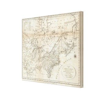 Map of the Northern and Middle States 2 Canvas Print