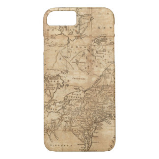 Map of the Northern and Middle States 2 iPhone 7 Case