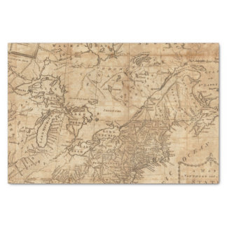 Map of the Northern and Middle States 2 Tissue Paper