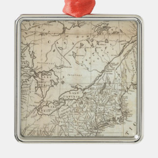 Map of the Northern and Middle States Christmas Ornament