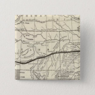 Map of the Northern Pacific Railroad 15 Cm Square Badge