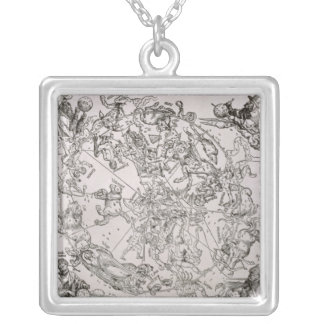 Map of the Northern Sky Silver Plated Necklace