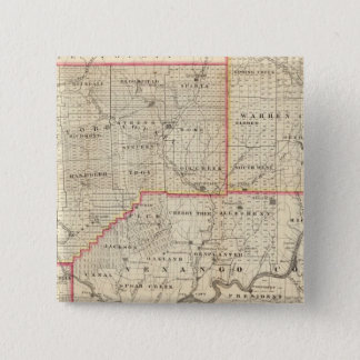 Map of the Oil Region of Pennsylvania 15 Cm Square Badge