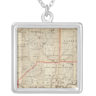 Map of the Oil Region of Pennsylvania Silver Plated Necklace