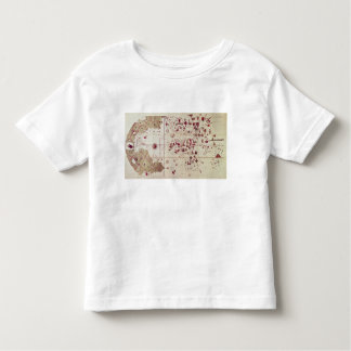 Map of the Old and New Worlds, c.1500 T-shirt